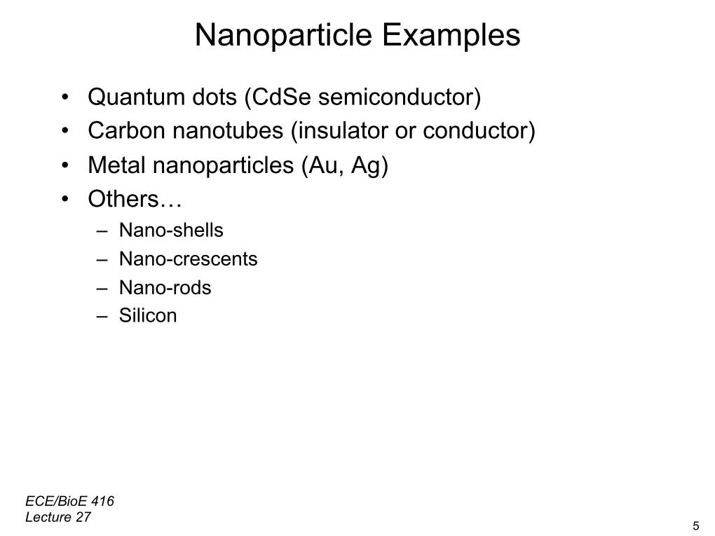 Nanoparticle Examples
