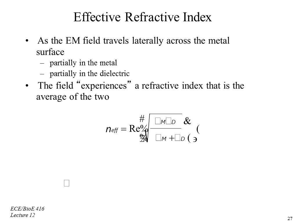 Effective Refractive Index