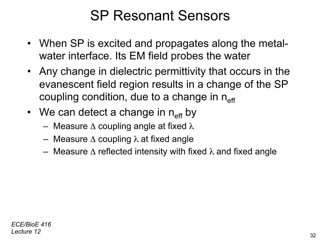 SP Resonant Sensors