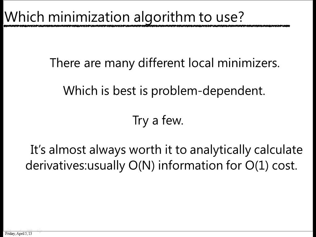 Which minimization algorithm to use?