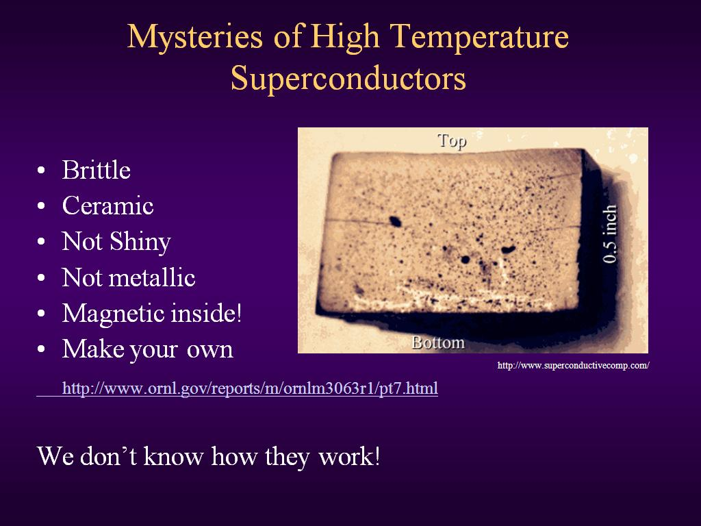Mysteries of High Temperature Superconductors
