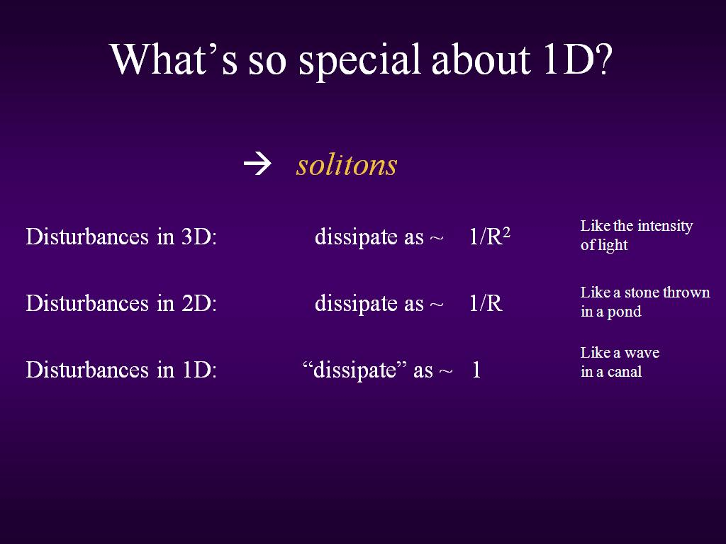 What's so special about 1D?