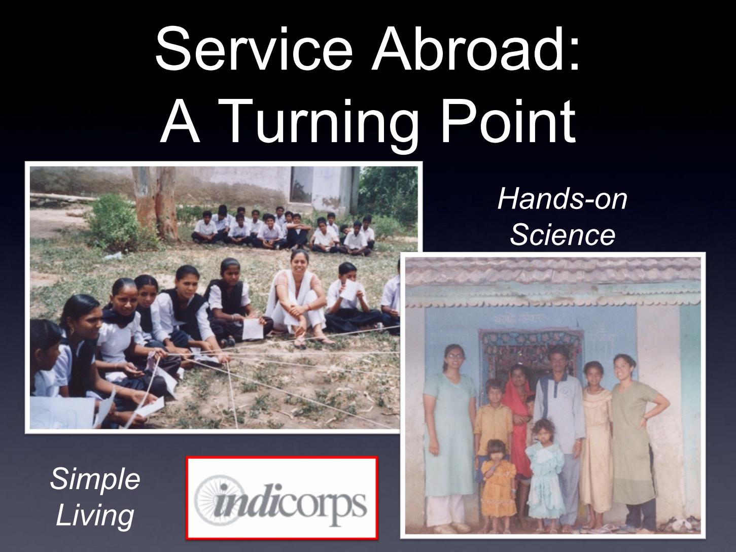 Service Abroad: A Turning Point