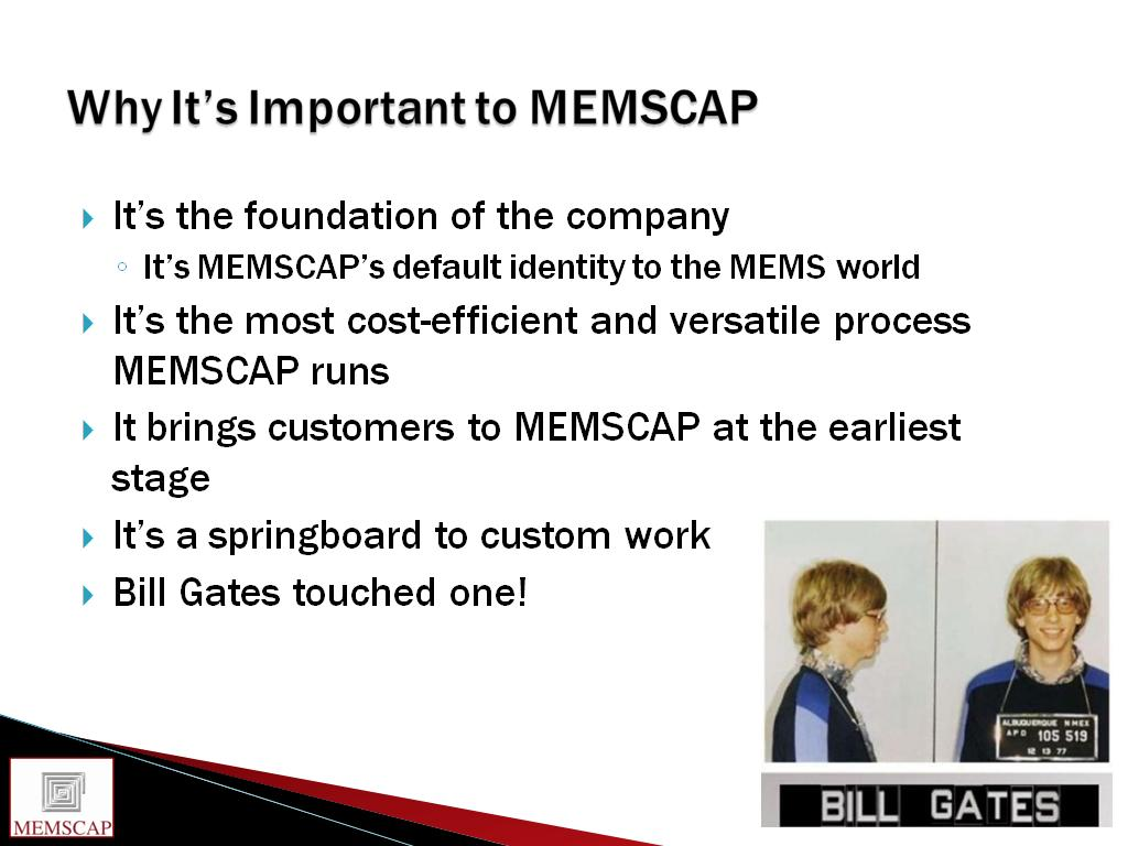 Why It's Important to MEMSCAP