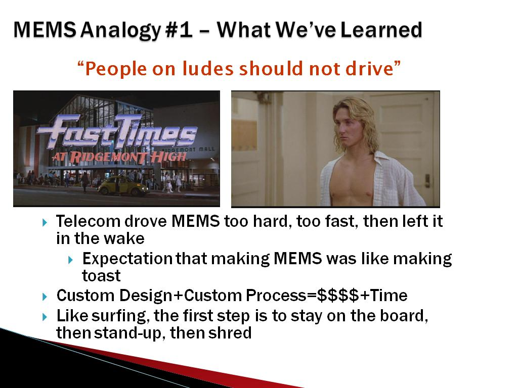 MEMS Analogy #1 – What We've Learned