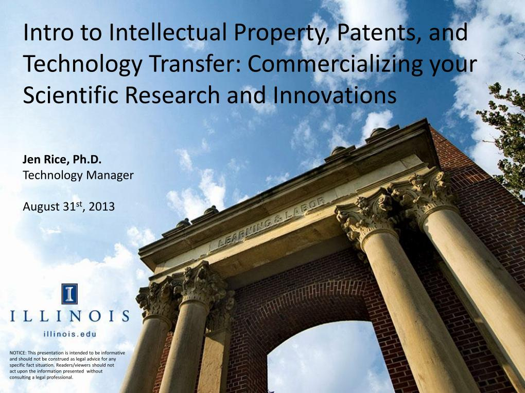 nanoHUB org - Resources: [Illinois] Intro to Intellectual Property