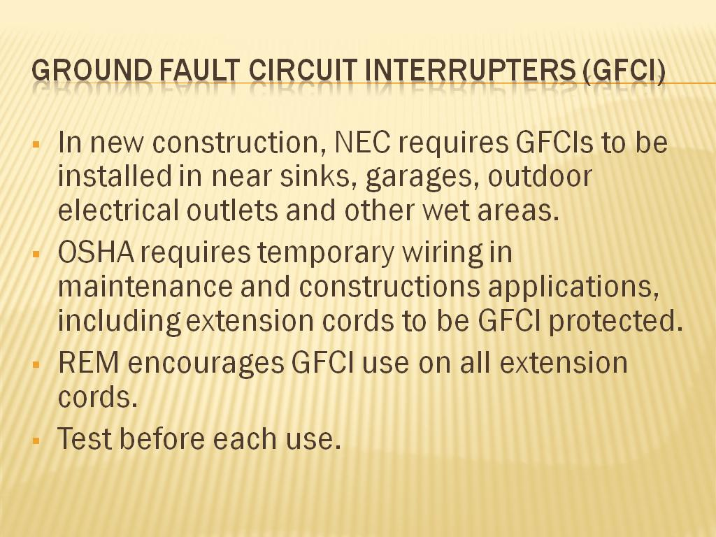 Resources Electrical Safety Safe Work Practices How To Test Ground Fault Circuit Interrupter Gfci Interrupters