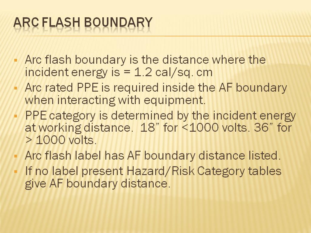 Arc Flash Boundary