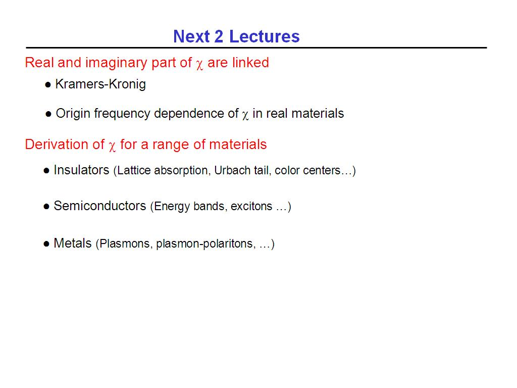 Next 2 Lectures