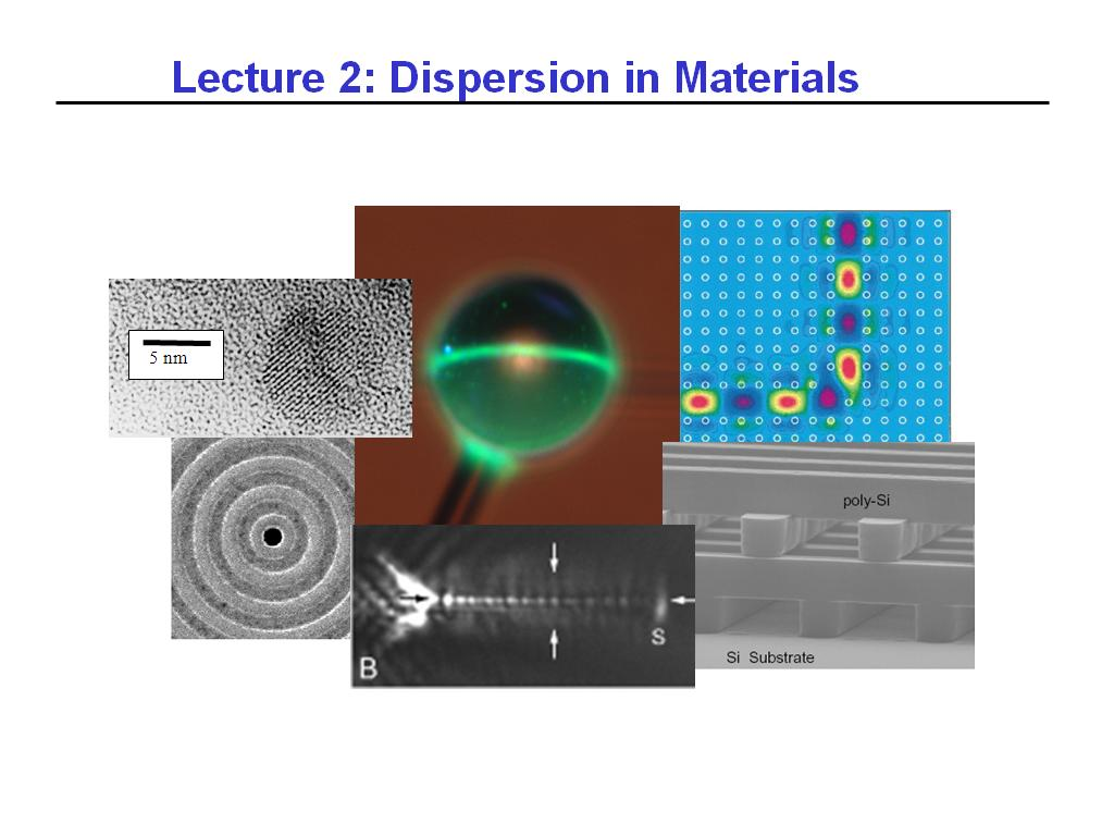 Lecture 2: Dispersion in Materials
