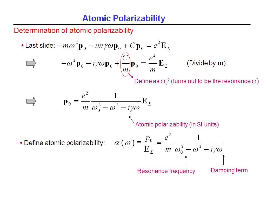 Atomic Polarizability