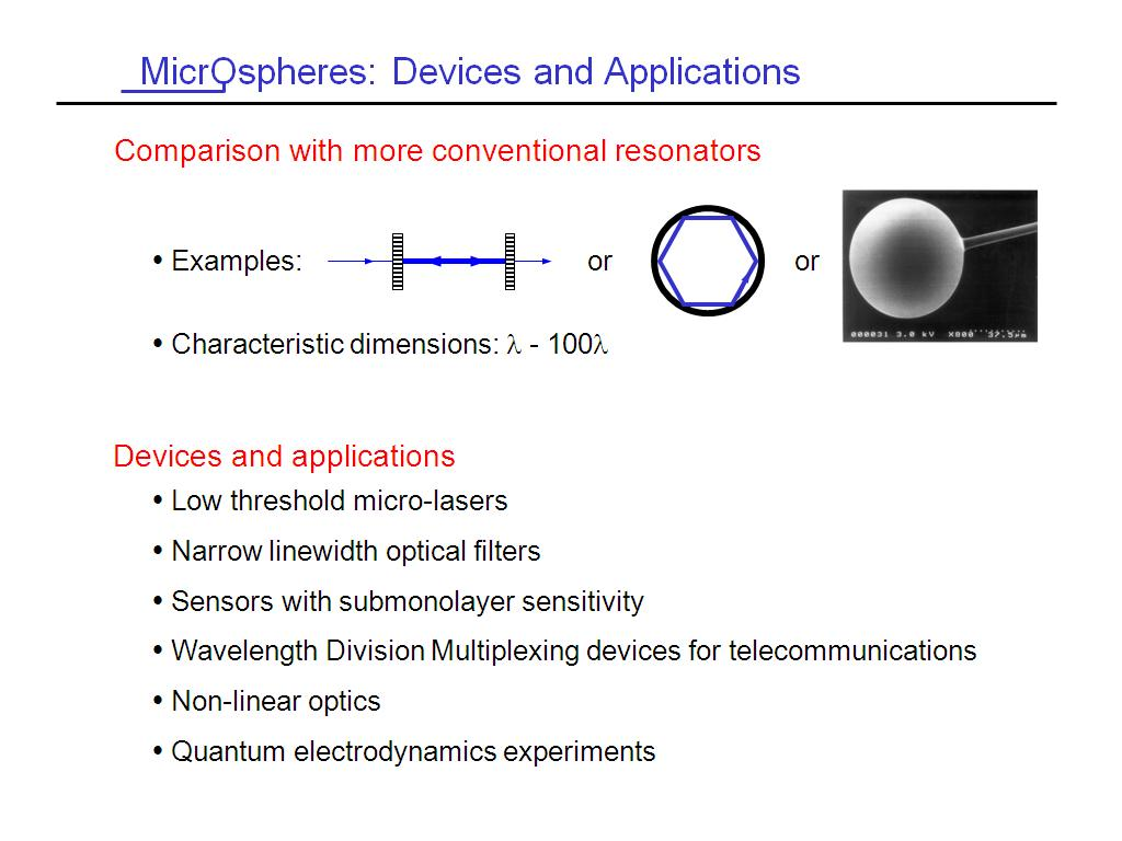 MicrOspheres: Devices and Applications