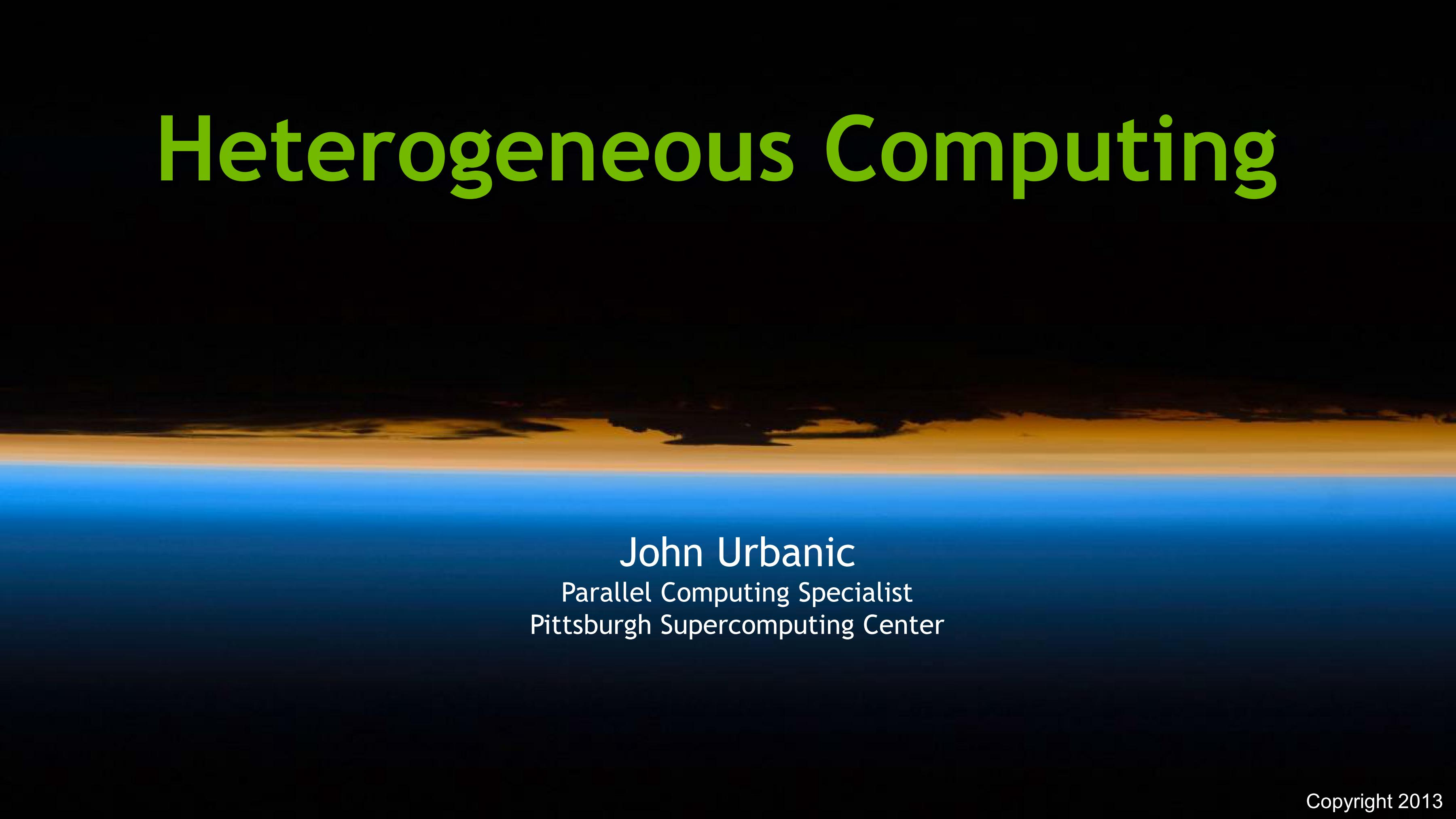 Heterogeous COmputing
