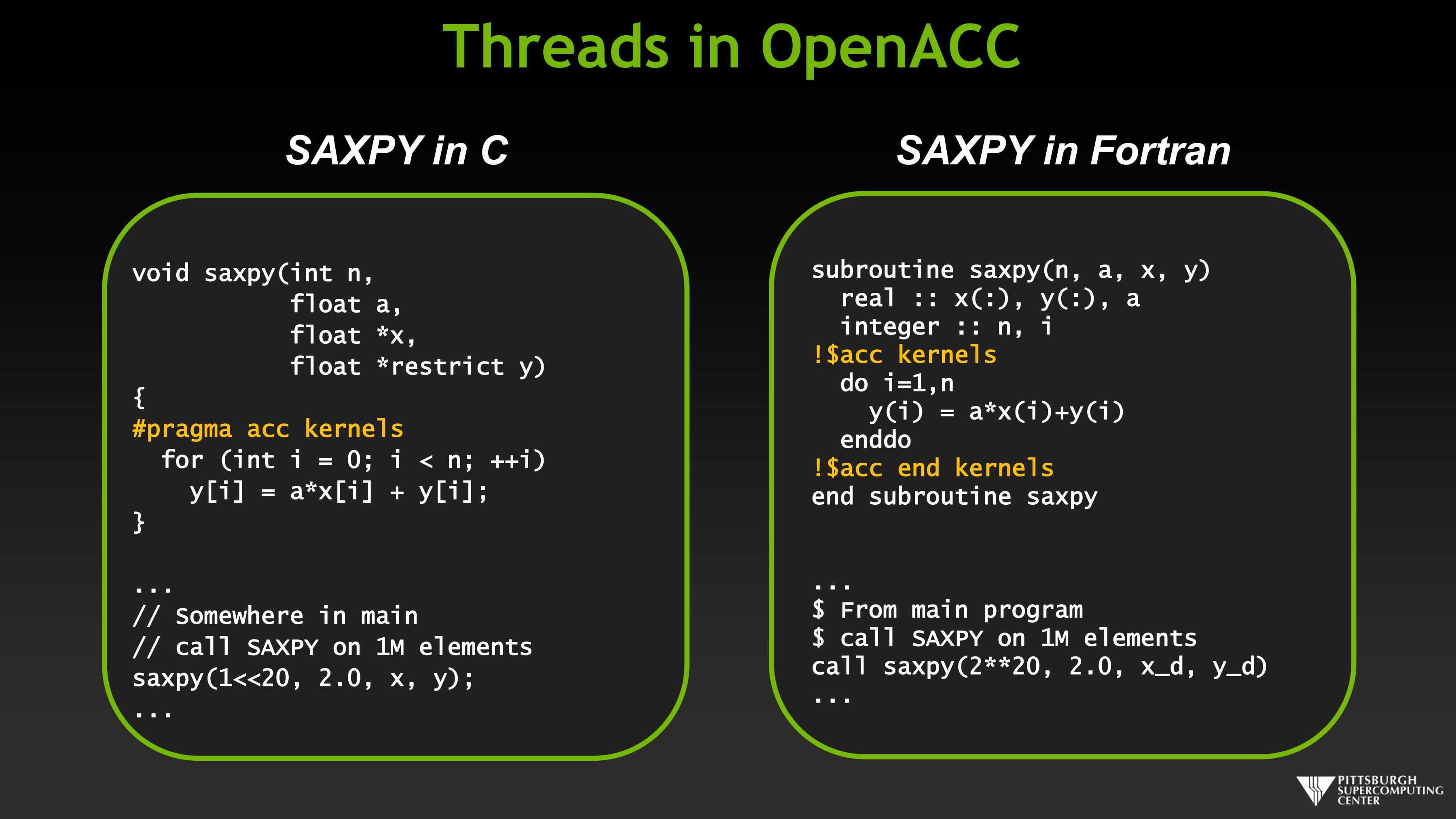 Threads in OpenACC