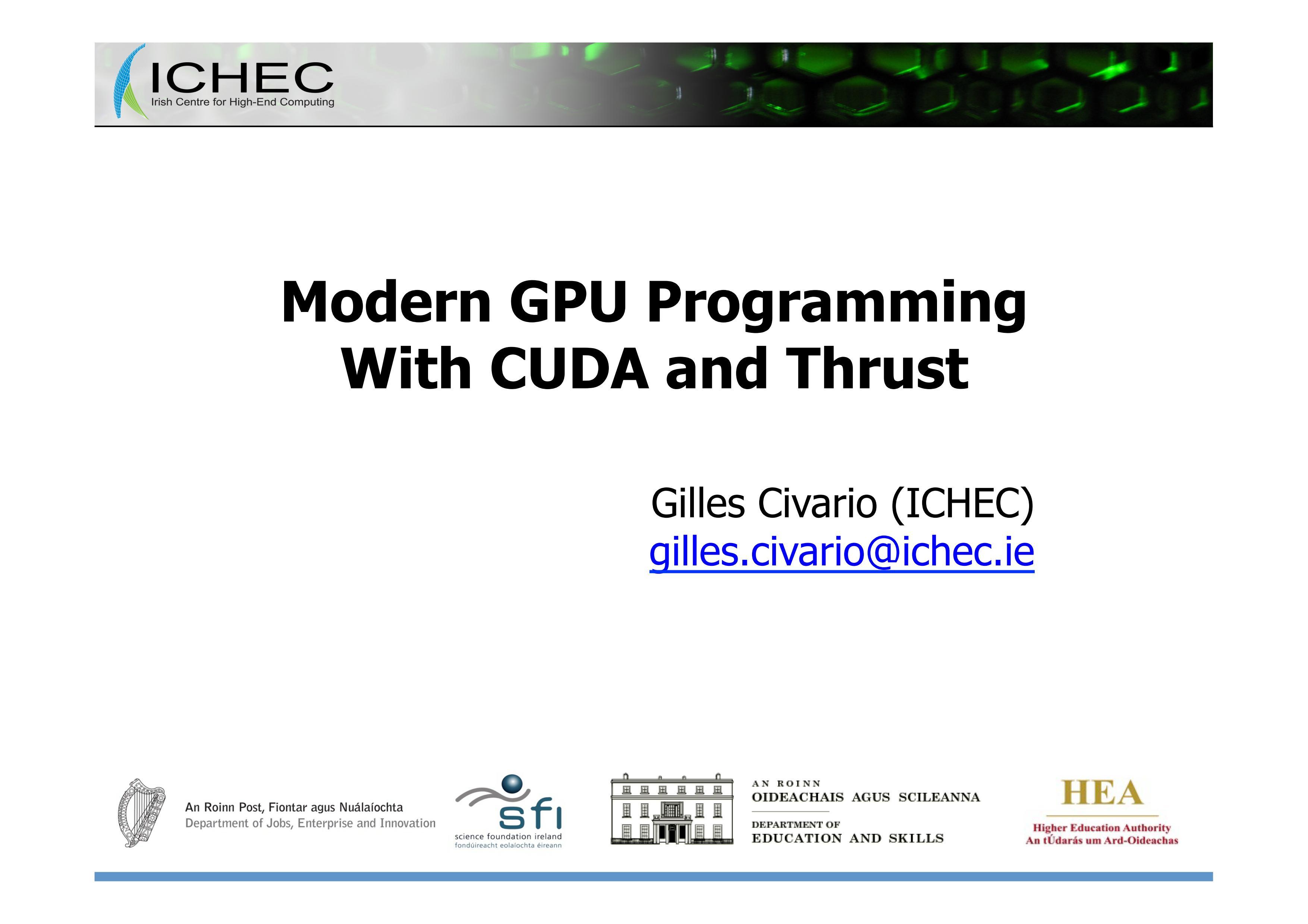 nanoHUB org - Resources: Modern GPU Programming with CUDA