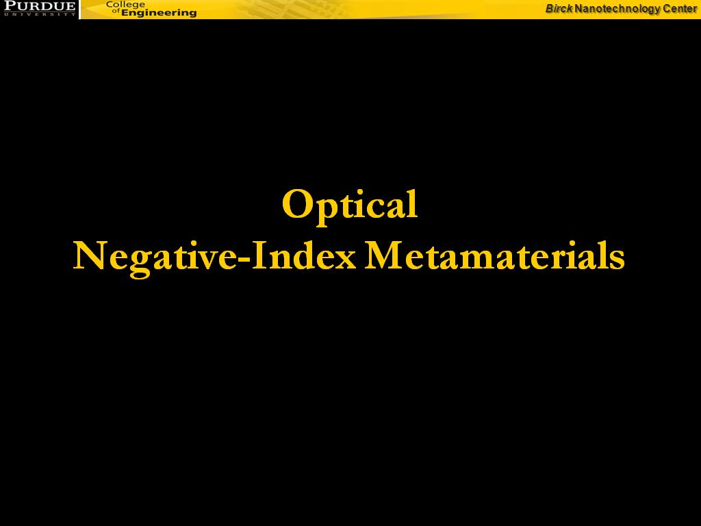 Optical Negative-Index Metamaterials