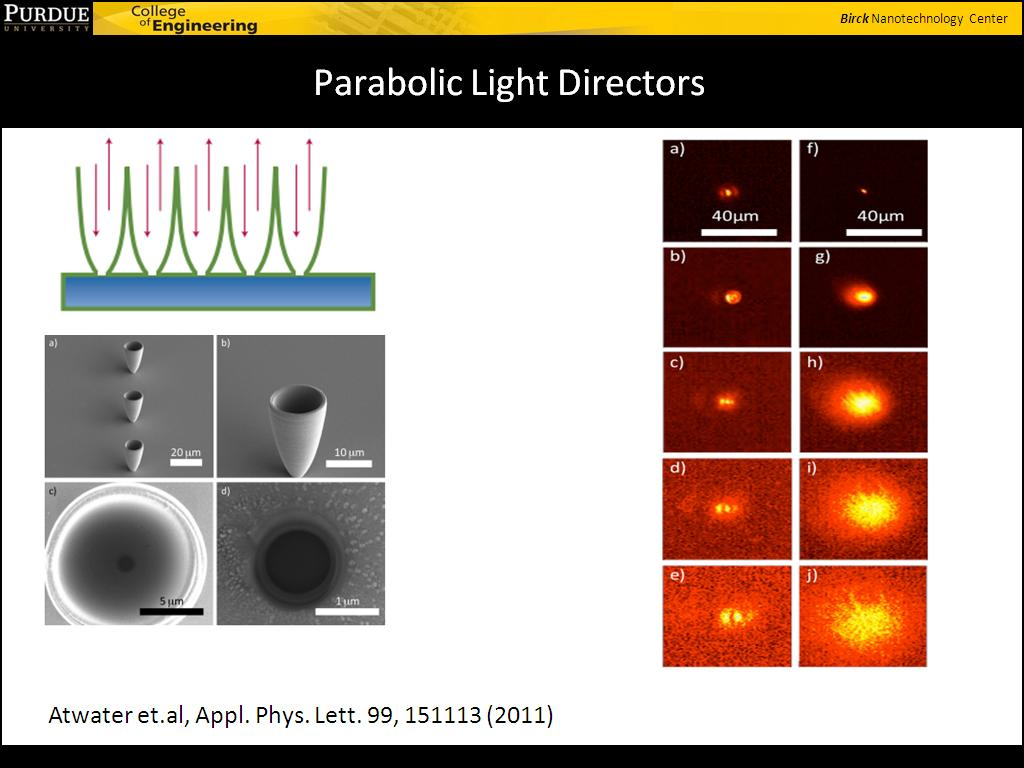 Parabolic Light Directors