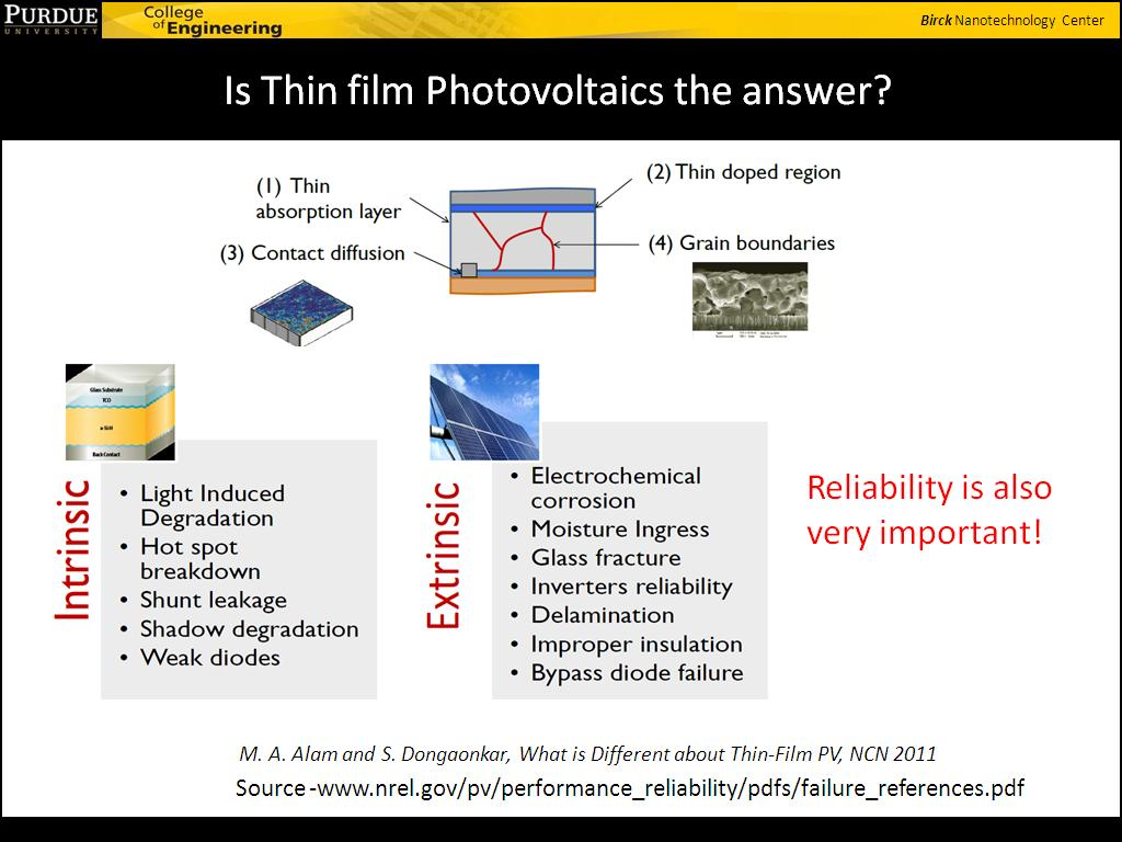 Is Thin film Photovoltaics the answer?