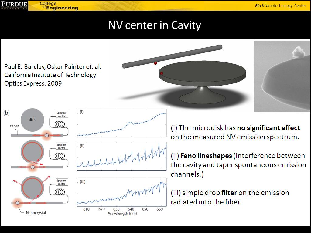 NV center in Cavity