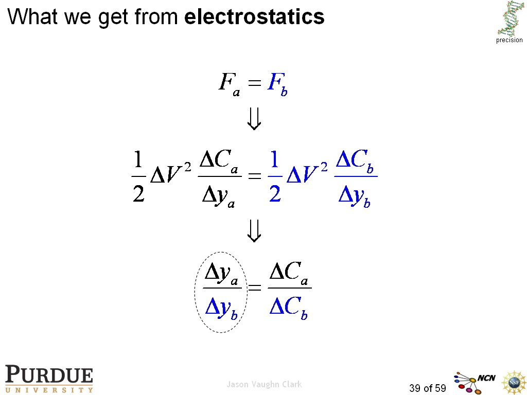What we get from electrostatics