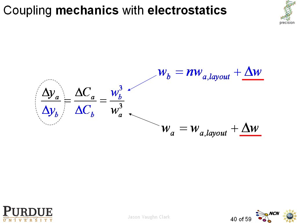 Coupling mechanics with electrostatics