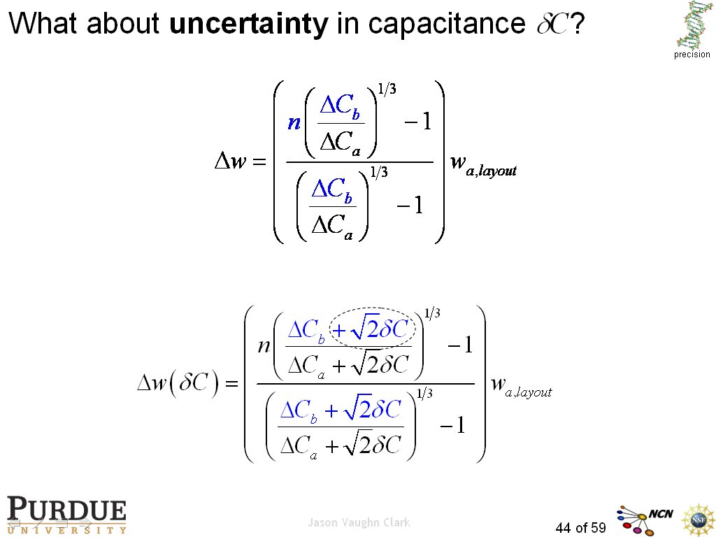 What about uncertainty in capacitance dC?