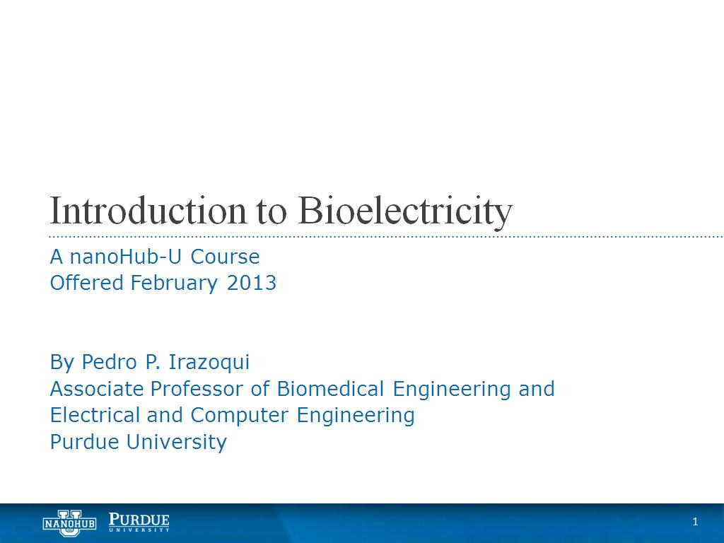 Introduction to Bioelectricity