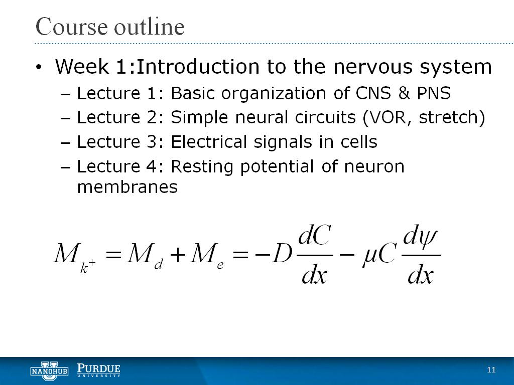 Week 1 Lecture 4: Resting potential of neuron membranes