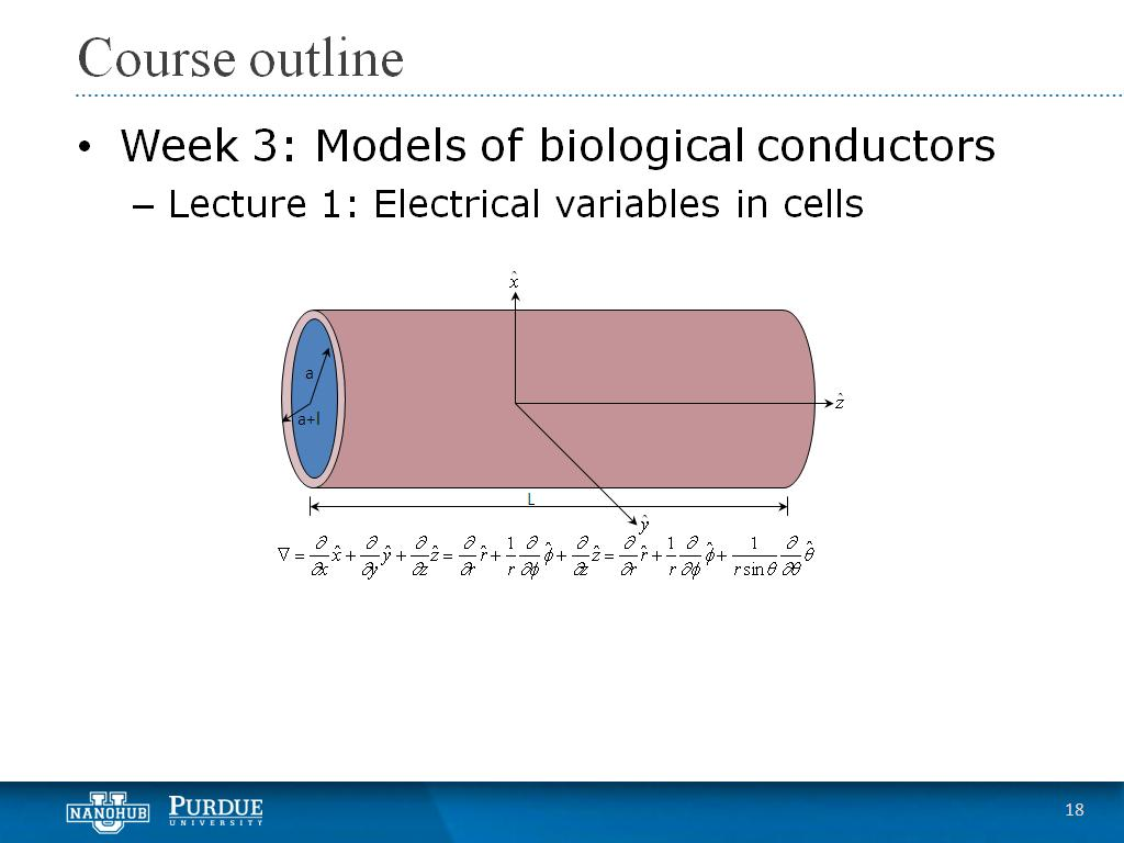 Week 3 Lecture 1: Electrical variables in cells