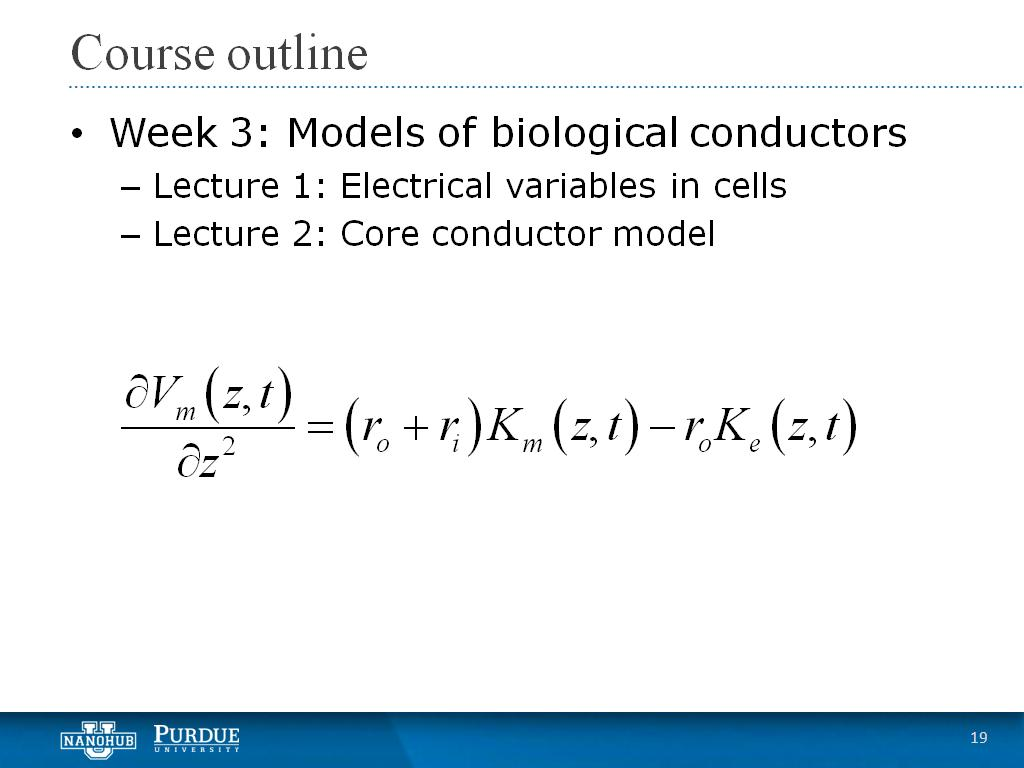 Week 3 Lecture 2: Core conductor model