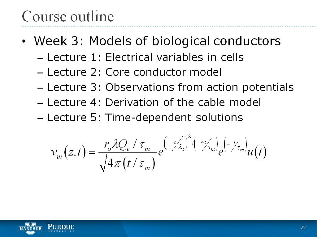 Week 3 Lecture 5: Time-dependent solutions