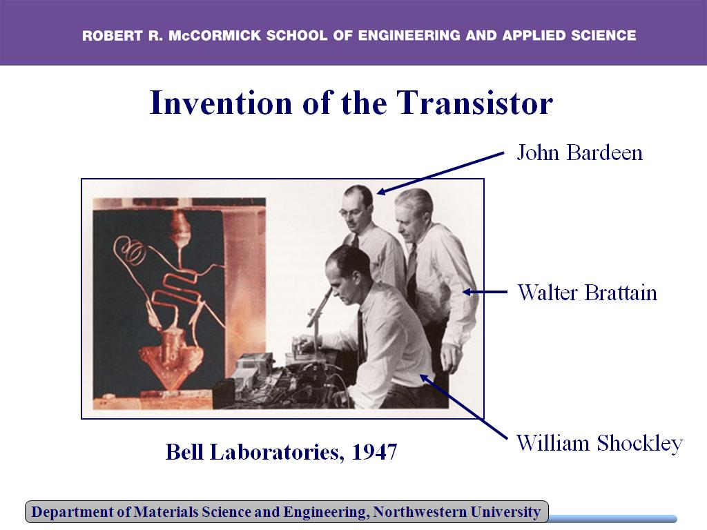 Invention of the Transistor