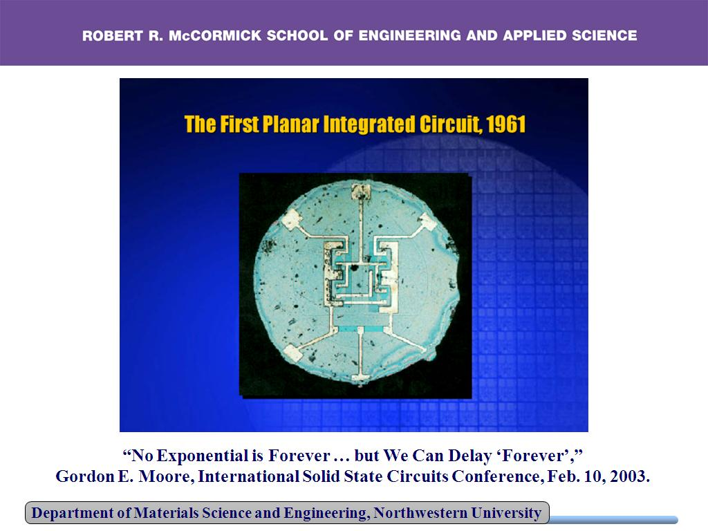 The First Planar Integrated Circuit, 1961