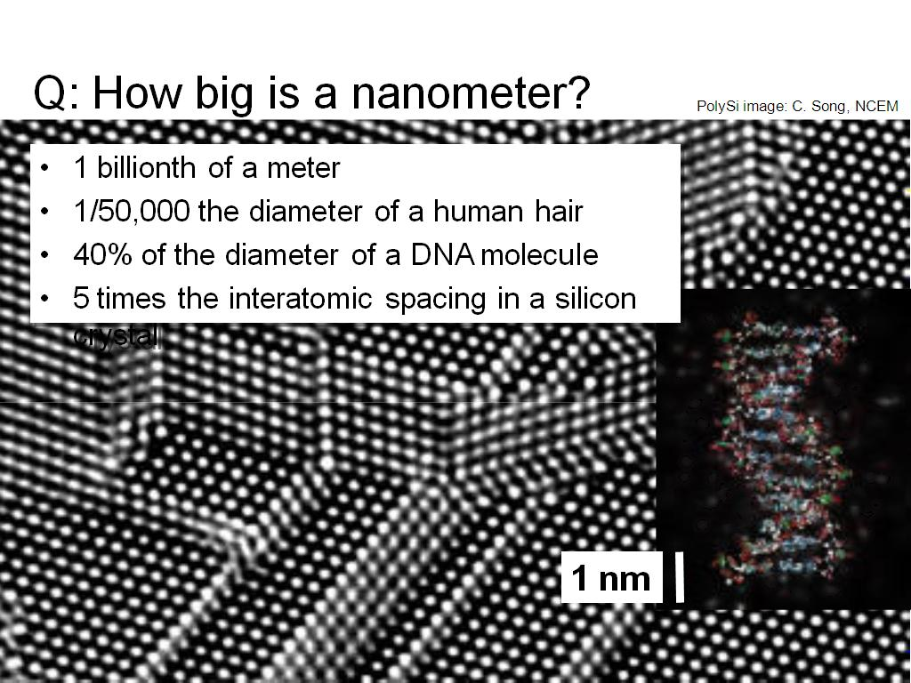 Q: How big is a nanometer?