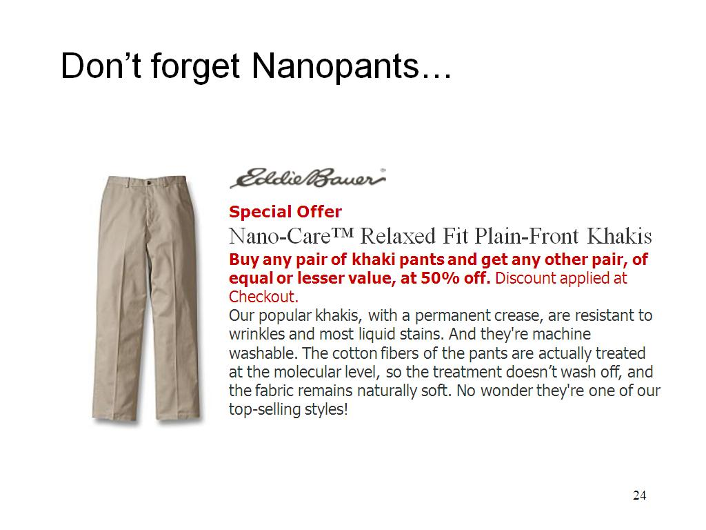 Don't forget Nanopants…