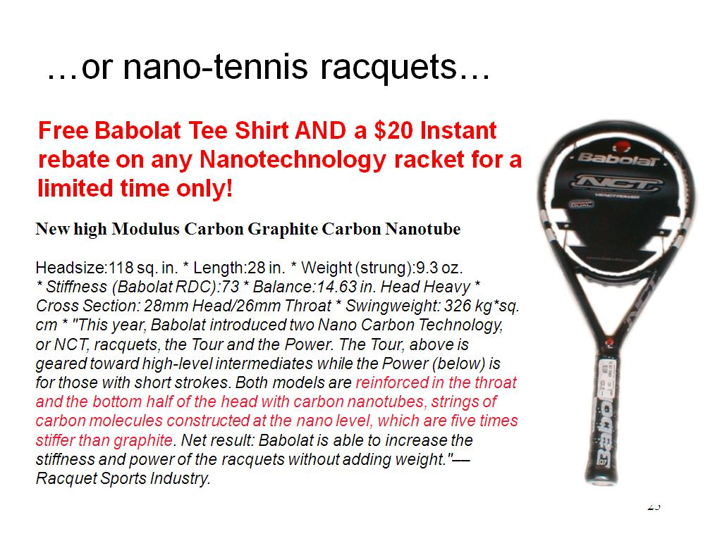 …or nano-tennis racquets…