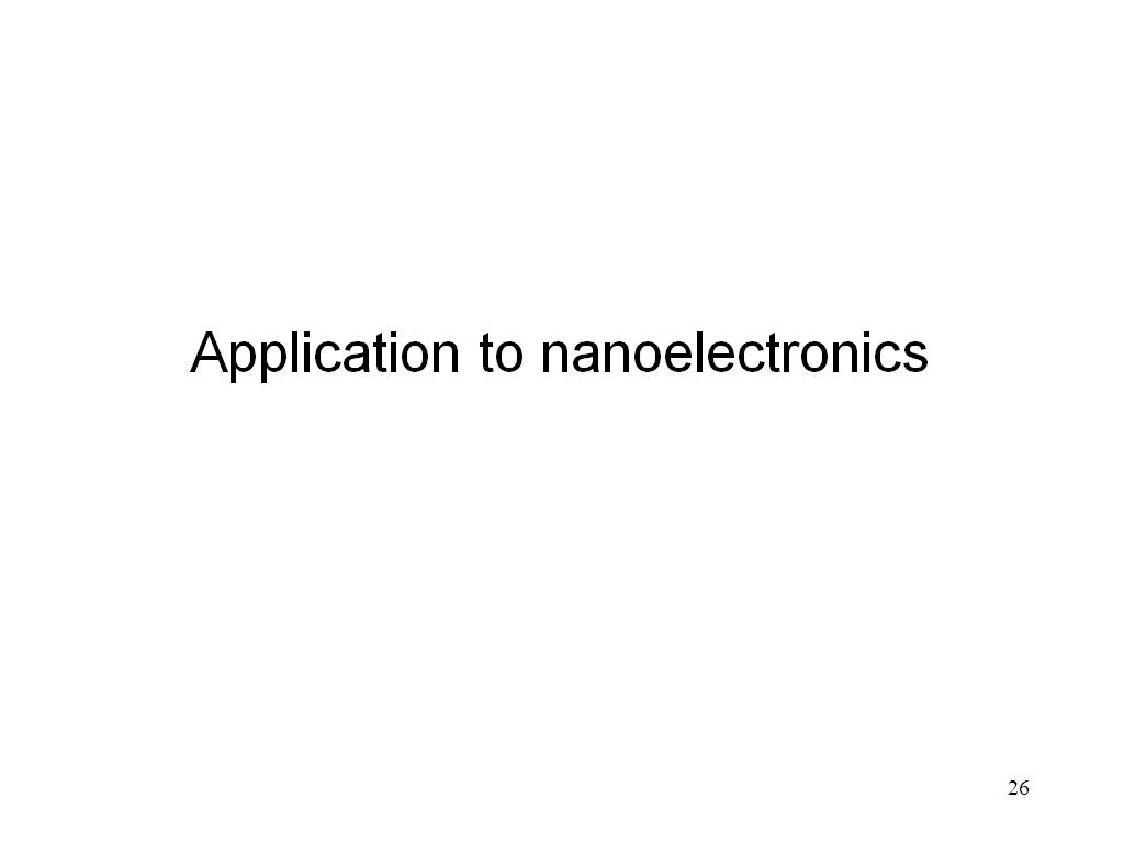 Application to nanoelectronics