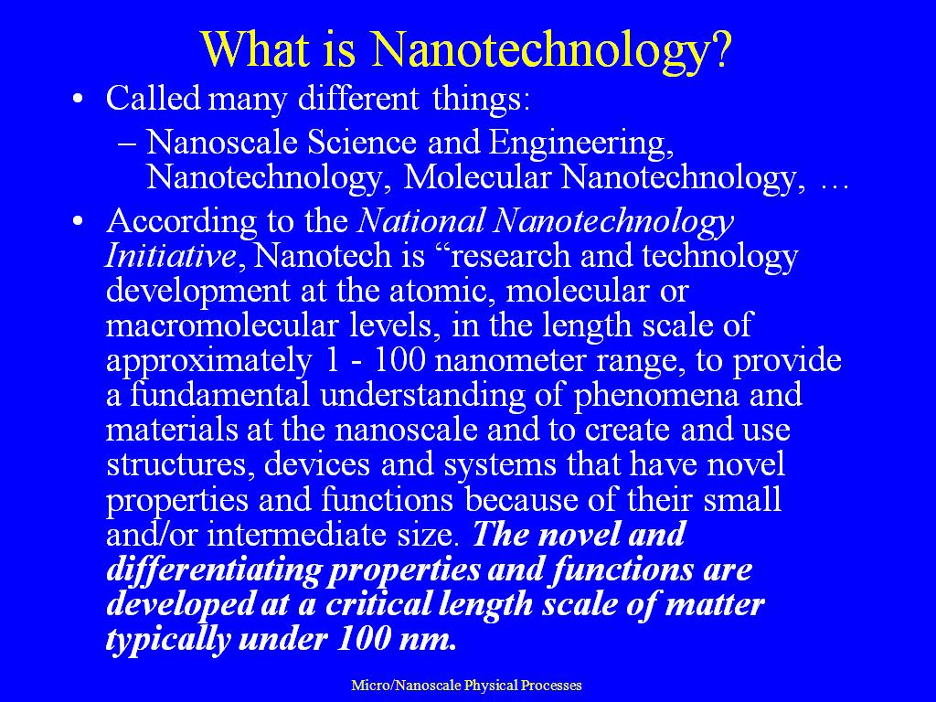 nanotechnology essays Nanoscience and nanotechnology have had a great impact on the food industry  they have increased the nutritional and functional properties of a number of.