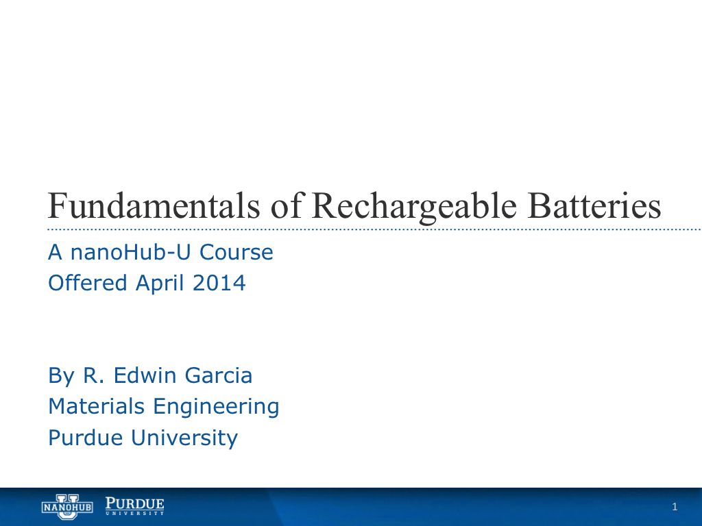 Introduction to the Material Science of Rechargeable Batteries