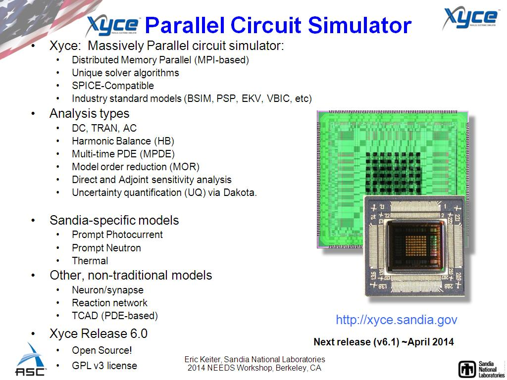Resources Xyce An Open Source Spice Engine Watch Electronic Circuit Simulator Online Parallel