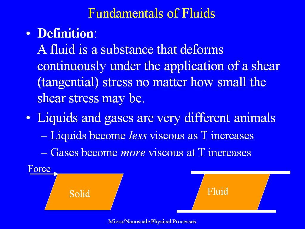 Fundamentals of Fluids