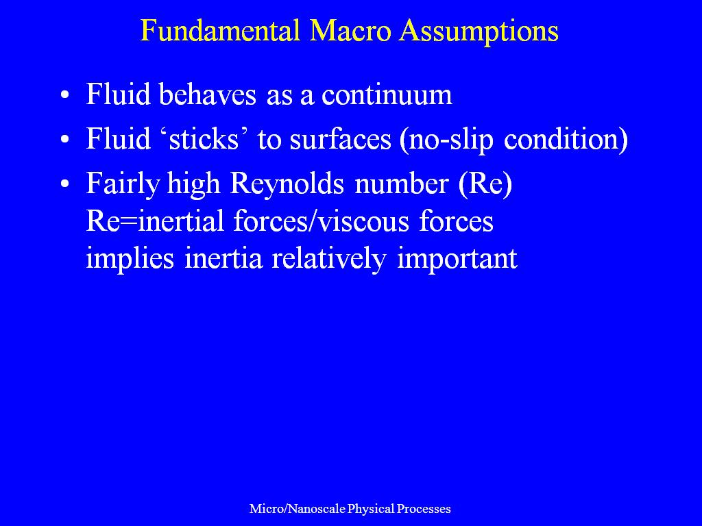 Fundamental Macro Assumptions