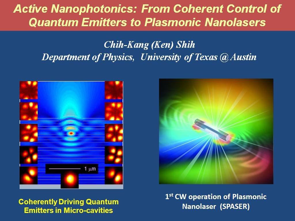nanoHUB org - Resources: Active Nanophotonics: From Coherent Control