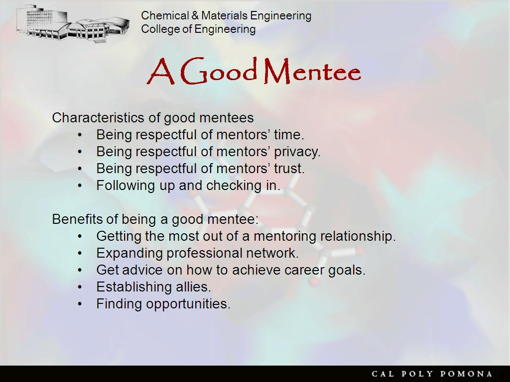 org resources effective mentoring watch presentation finding a mentor getting a mentor a good mentor a good mentee