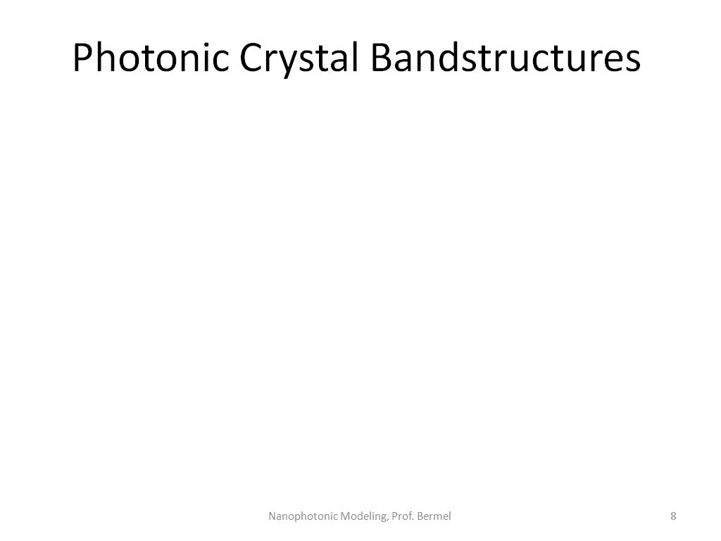Photonic Crystal Bandstructures