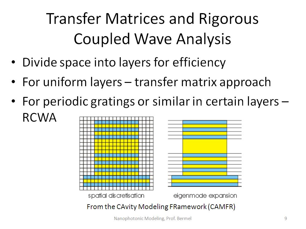 Transfer Matrices and Rigorous Coupled Wave Analysis