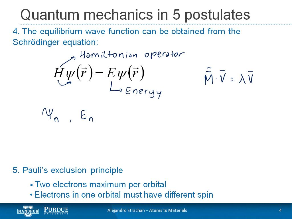 nanoHUB org - Resources: Week 1: Quantum Mechanics and Electronic