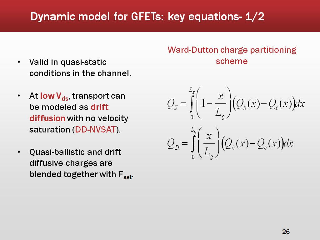 Dynamic model for GFETs: key equations- 1/2