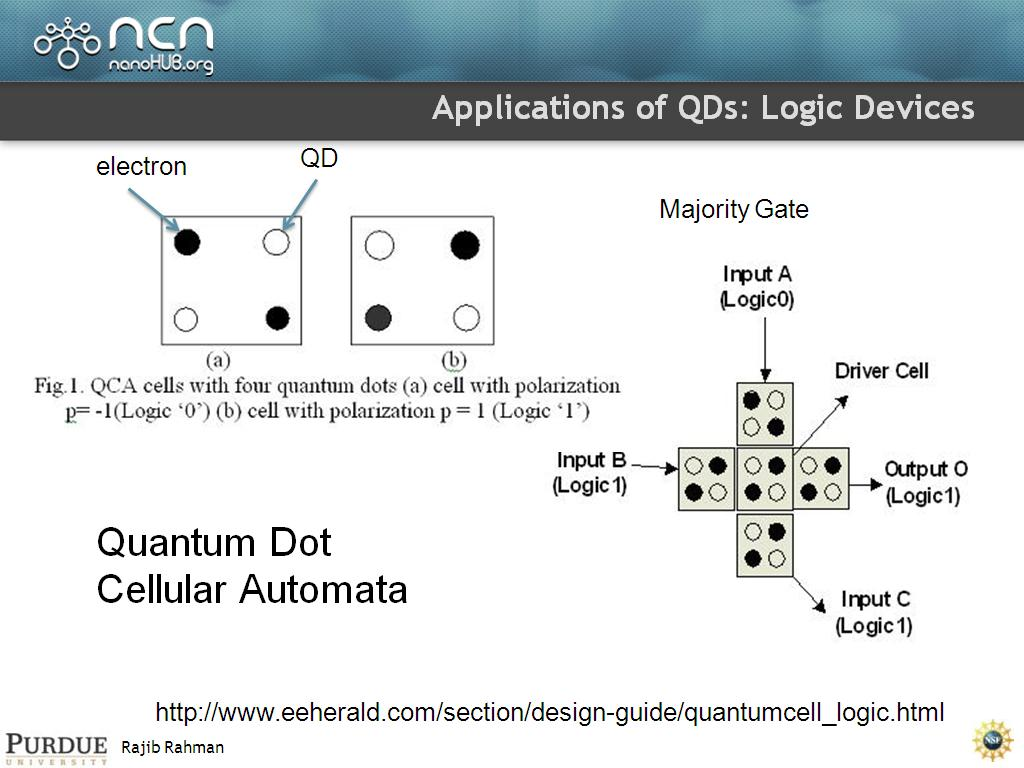 Applications of QDs: Logic Devices