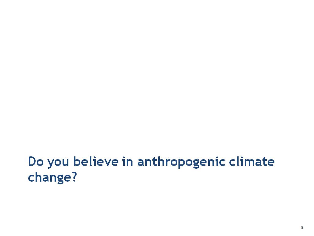 Do you believe in anthropogenic climate change?